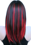 Cabin red streaked hair